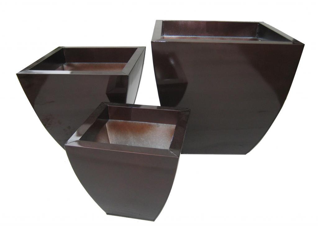 Zinc Square Tapered Vase